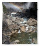 Yosemite Falls Rainbow Fleece Blanket