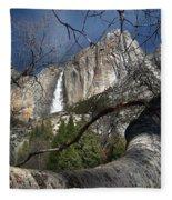 Yosemite Falls Tree Fleece Blanket