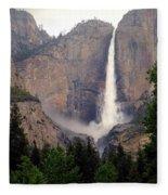 Yosemite Falls Vertical Fleece Blanket