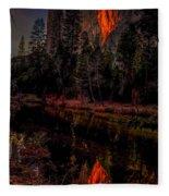 Yosemite Firefall 2015 Fleece Blanket