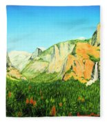 Yosemite National Park Fleece Blanket