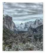 Yosemite National Park Tunnel View  Fleece Blanket