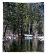 Yosemite Reflections Fleece Blanket
