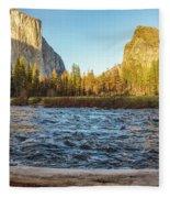 Yosemite Sunset Fleece Blanket