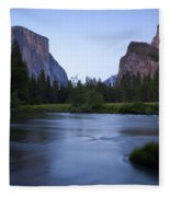 Yosemite Twilight Fleece Blanket