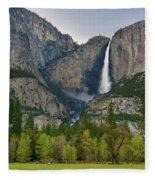 Yosemite Upper And Lower Falls Fleece Blanket