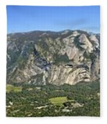 Yosemite Valley Panorama From Union And Glacier Points Fleece Blanket
