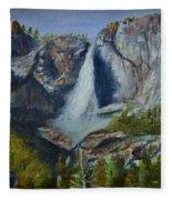Yosemite Waterfall Fleece Blanket