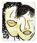 You And Me Sepia Tones Fleece Blanket