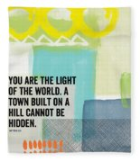 You Are The Light- Contemporary Christian Art By Linda Woods Fleece Blanket