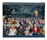 You Are The Star Mural Hollywood Fleece Blanket