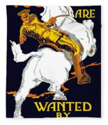 You Are Wanted By Us Army Fleece Blanket