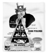 You Shall Be Obese By Fat Uncle Sam Fleece Blanket
