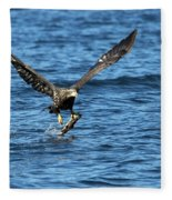 Young Bald Eagle II Fleece Blanket