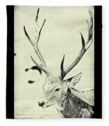 Young Buck Fleece Blanket