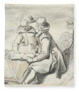 Young Couple Fleece Blanket