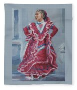 Young Dancer At Arneson Theater Fleece Blanket