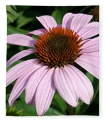 Young Echinacea Bloom Fleece Blanket
