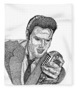 Young Elvis Fleece Blanket
