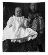 Young Ernest Lawrence And Brother, 1904 Fleece Blanket