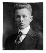Young Ernest Lawrence Fleece Blanket
