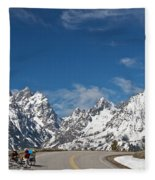 Young Family Bicycling Fleece Blanket
