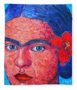Young Frida Kahlo Fleece Blanket