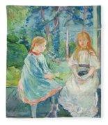 Young Girls At The Window Fleece Blanket