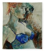 Young Lady 56 Fleece Blanket