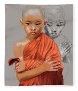 Young Lama Fleece Blanket