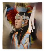 Pow Wow Young Man Fleece Blanket