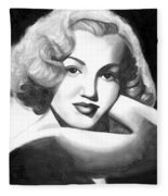 Young Marilyn Fleece Blanket
