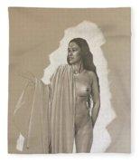 Young Model Fleece Blanket
