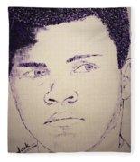 Young Muhammad Ali Fleece Blanket