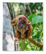 Young Red Howler Monkey Fleece Blanket
