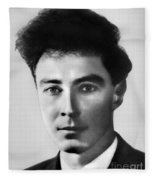 Young Robert Oppenheimer Fleece Blanket