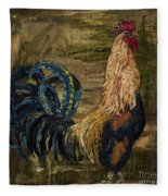 Young Rooster Fleece Blanket