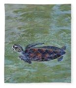 Young Sea Turtle Fleece Blanket