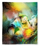 Young Seduction Fleece Blanket