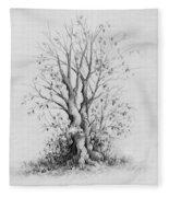 Young Tree Fleece Blanket