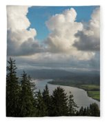Youngs Bay And Clouds Fleece Blanket