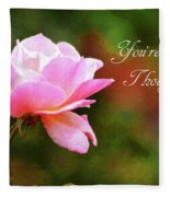 Your In My Thoughts Painting Fleece Blanket