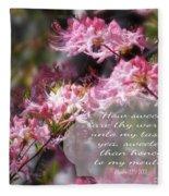 Sweet Words - Verse Fleece Blanket