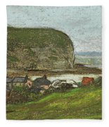 Yport And The Falaise D'aval Fleece Blanket