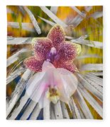 Yucca Dreaming Of Orchids Fleece Blanket
