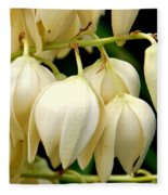 Yucca Flower Fleece Blanket