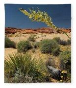 Yucca In The Valley Of Fire Fleece Blanket
