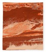 Yukon Mountain Range 5 Fleece Blanket