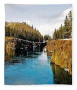 Yukon River And Miles Canyon - Whitehorse Fleece Blanket