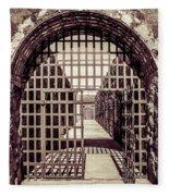 Yuma Territorial Prison Gate Fleece Blanket